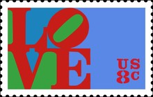 Robert Indiana | Love | stamp