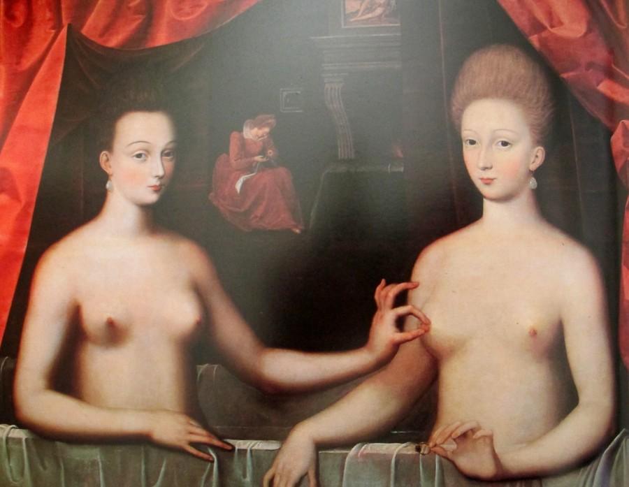 School of Fontainebleau - Duchess of Villars & Gabrielle Destree