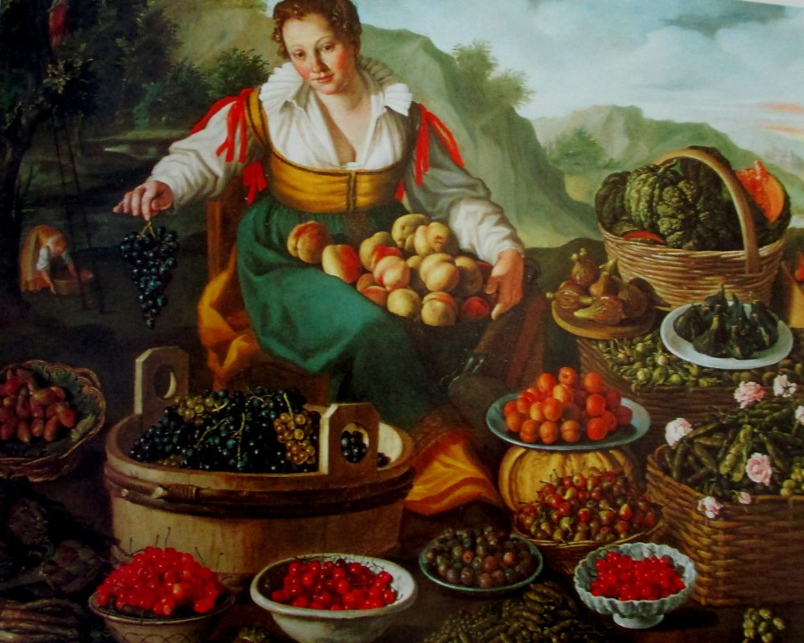 Vincenzo Campi - the fruit seller, Italian art, gallery art, is it art?