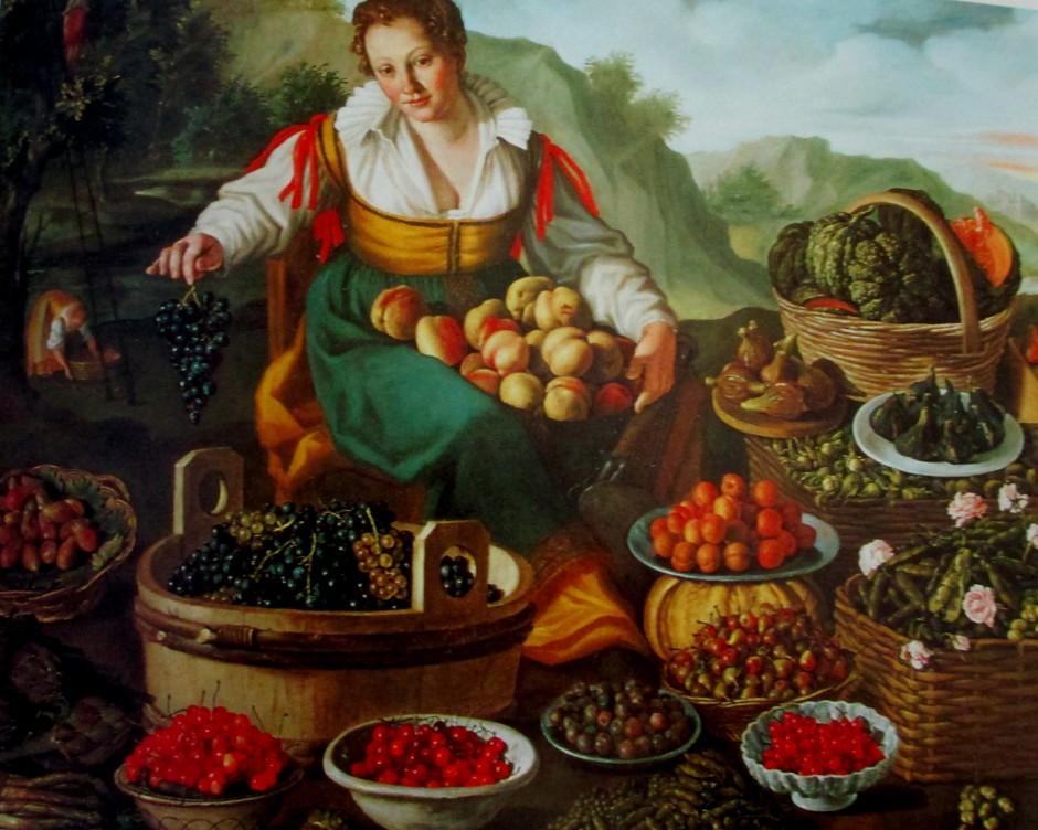 Vincenzo Campi - the fruit seller, Italian art, gallery art, is it art?