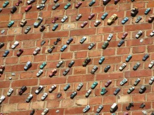 Matej Andraz Vogrincic - cars on a wall, Adelaide, street art installation,
