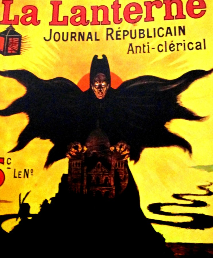 La Lanterne Journal Republicain anti-clerical - cover art, French cover art, is it art?