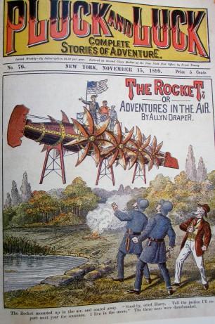 Pluck&Luck: Complete Stories of Adventure magazine, - The Rocket, magazine art, illustrative art, Adventures in the air, Allyn Draper, is it art?