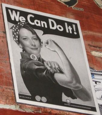 We can do it - Julia Gillard, street art poster by Phoenix the Street Artist, street artists, Phoenix the Street Artist, is it art?
