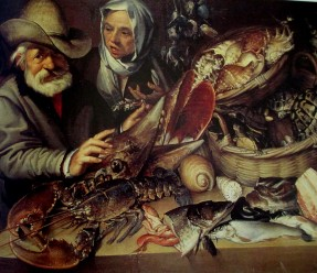 Bartolomeo Passerotti - the fish stall, art, artists, fish, is it art?