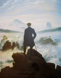 Caspar David Friedrich - The wanderer above the mists, artworks, is it art?