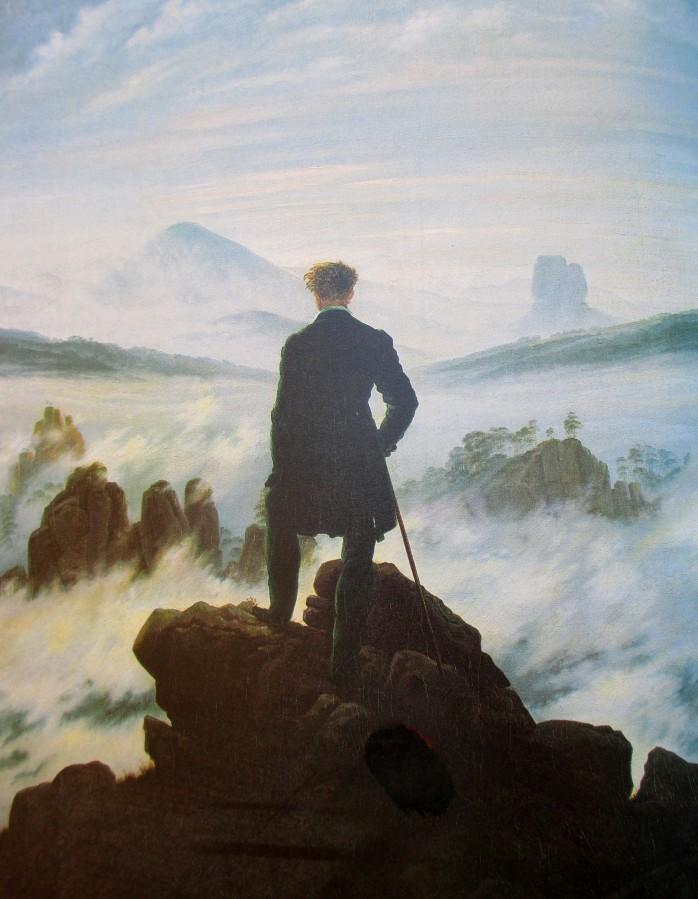 Caspar David Friedrich - The wanderer above the mists, artworks, is it art?