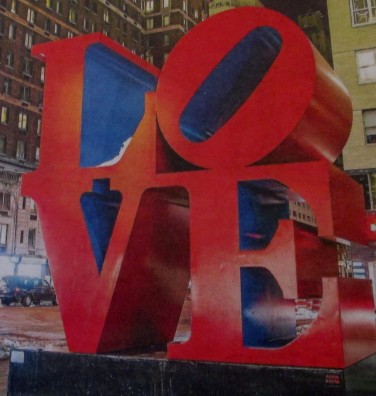 Robert Indiana | Love sculpture | installation, artwork, is it art?