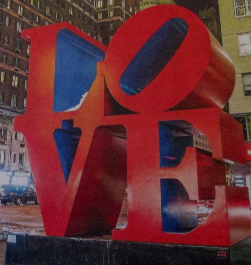 Rrobert Indiana - Love sculpture, installation, artwork, is it art?