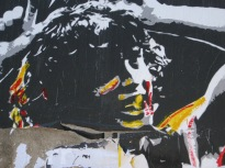 street art piece in AC-DC Lane, Melbourne, stencil art, street art, Melbourne, is it art?