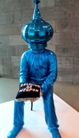 Eko Nogroho - Religion as Weapon installation sculpture, is it art?