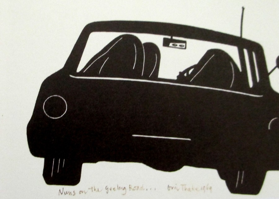 Eric Thake, Nuns on the Geelong Road,, sketch, art, is it art?