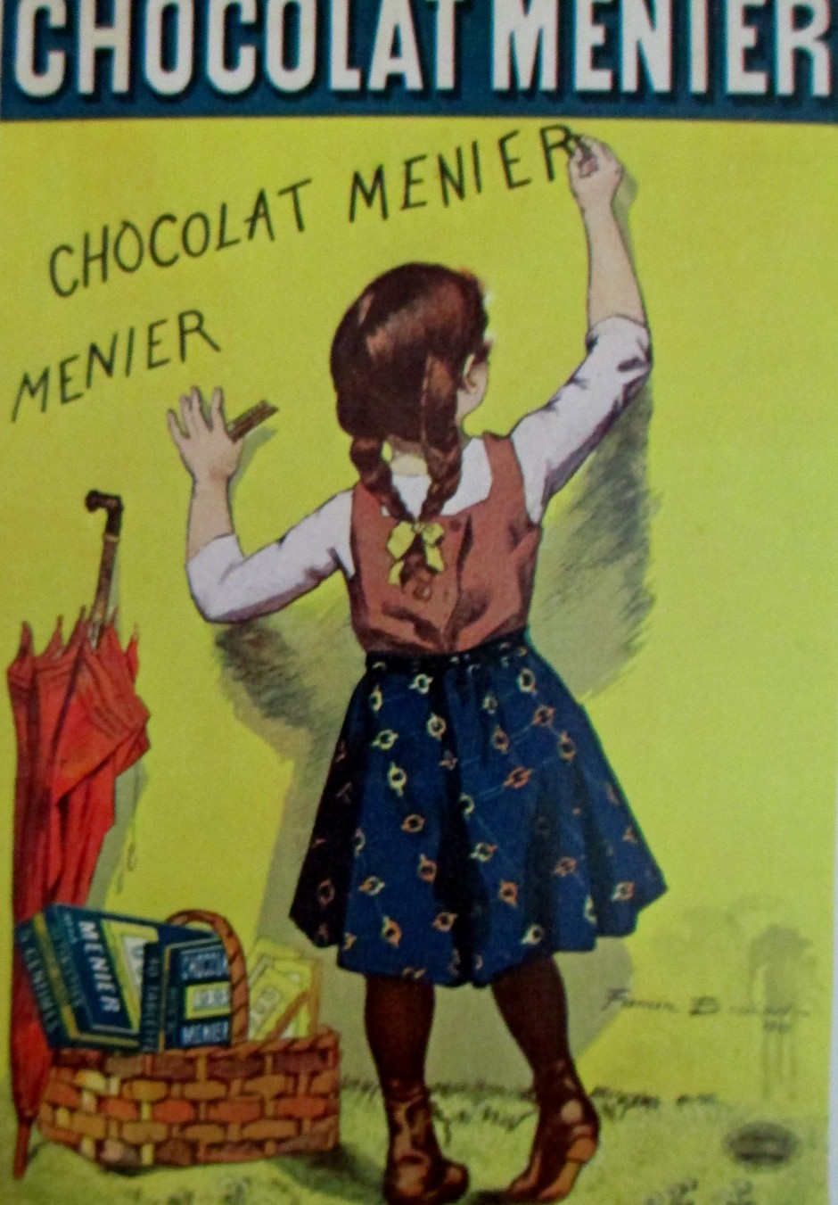 Firmin Bouisset, French poster, Menier chocolates, posters, vintage posters, illustrations, is it art?