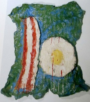Claes Oldenburg - Bacon and Egg, art, is it art, bacon & eggs,