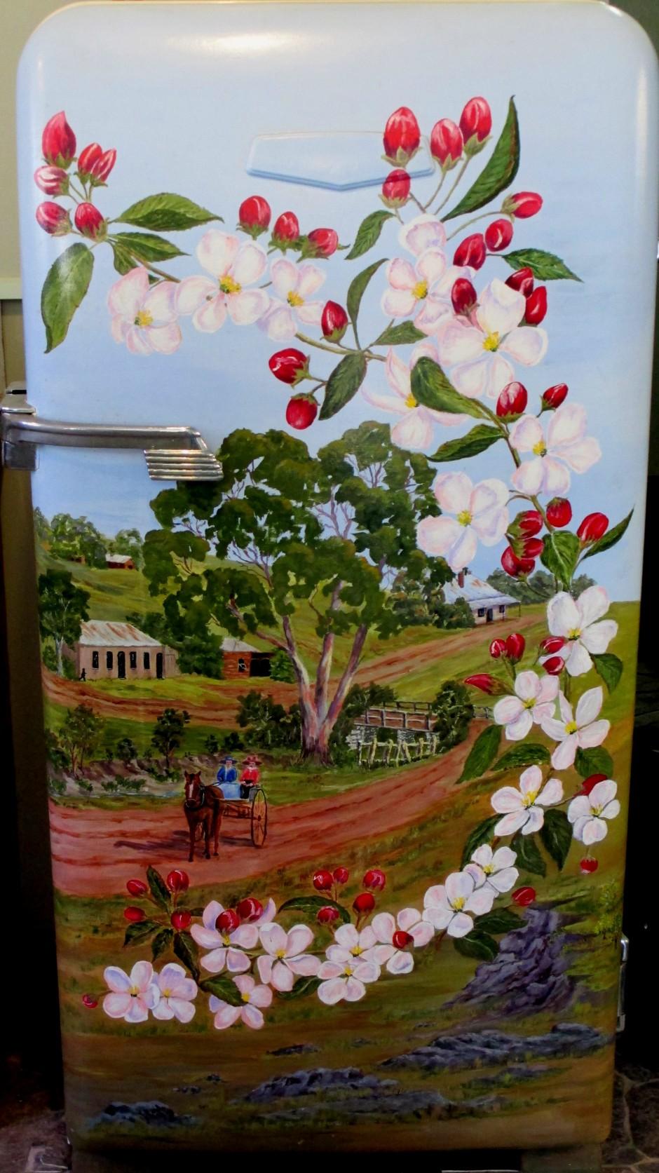 ANA Hall Harcourt, decorated fridge, fridge art, decorative art, fridges, Harcourt, is it art?