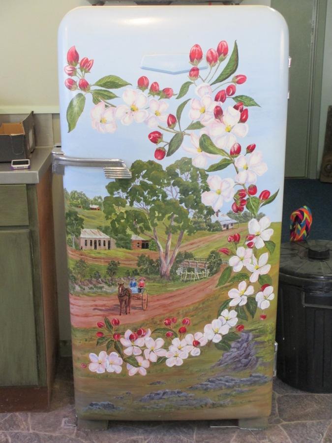 ANA Hall Harcourt, decorated fridge, fridge art, decorative art, fridges, Harcourt,