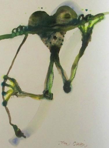 John Olsen - Tree frog, Australian artists, artists, frogs, paintings of forgs, is it art?