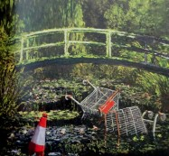 Banksy - Show Me the Monet, Claude Monet, Monet's Bridge, Giverny, Banksy