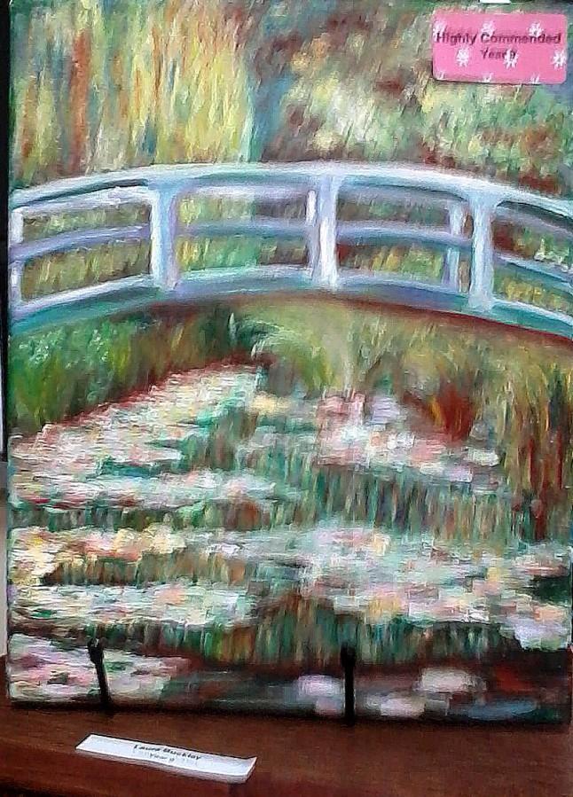 Laura Buckley student art - Monet's Bridge