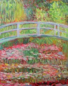 Megan Diplock - Monet Bridge, student art, Claude Monet, Giverny,