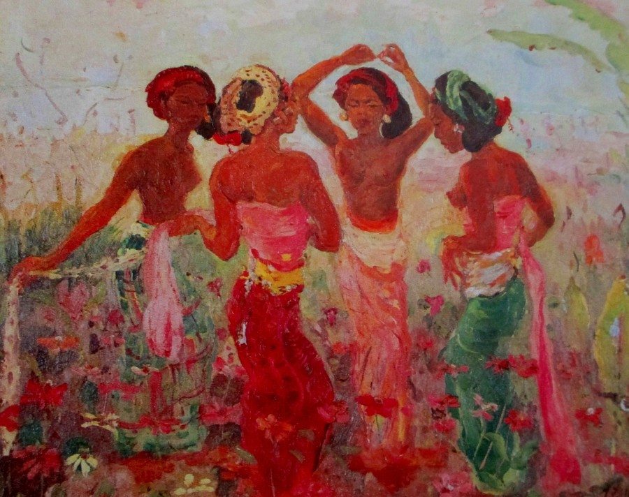 adrien-jean le mayeur de merpes - balinese girls in the garden, Balinese art, art, is it art?