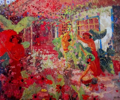 Adrien-Jean le Mayeur de Merpes - Dancers in the Garden (Bali)