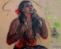Adrien-Jean le Mayeur de Merpes - Woman With Hibiscus