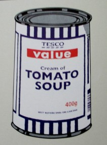 Banksy Tesco Value - Cream of Tomato Soup, Tesco soup, Cream of Tomato Soup,