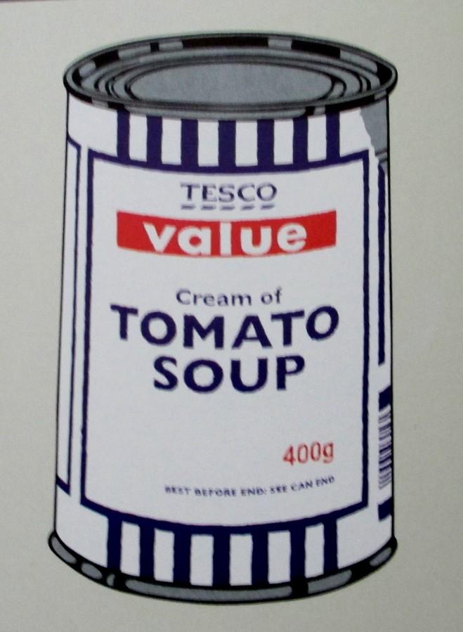 Banksy Tesco Value - Cream of Tomato Soup, Tesco soup, Cream of Tomato Soup,
