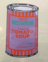 Banksy Tesco Value - Cream of Tomato Soup, Tesco soup, Cream of Tomato Soup, Banksy, street art, pop art, is it art?