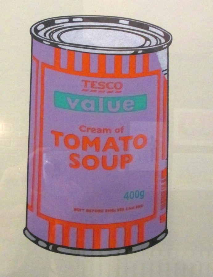 Banksy Tesco Value - Cream of Tomato Soup, Tesco soup, Cream of Tomato Soup, Banksy, street art, pop art, is it art?