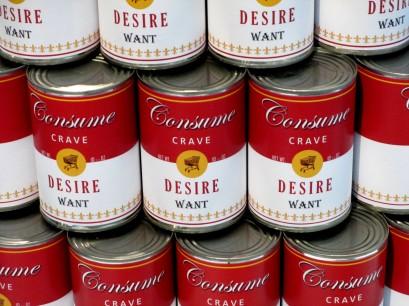 Tess Saunders - Consume Soup Art, Consume Crave, Desire, Want, Pop art, is it art?