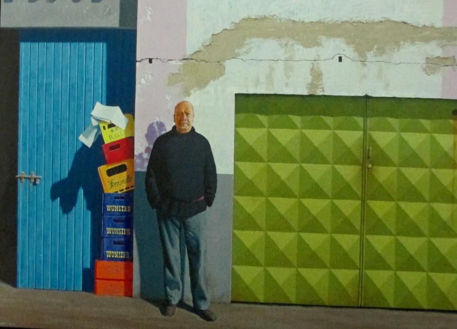 Jeffrey Smart - Self Portrait at Papini's