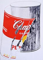 Andy Warhol - Big Torn Campbell's Soup Can (Pepper Pot) 1962