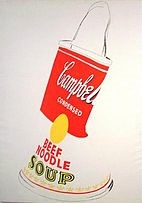 Andy Warhol - Crushed Campbell's Soup can (Beef Noodle) 1962