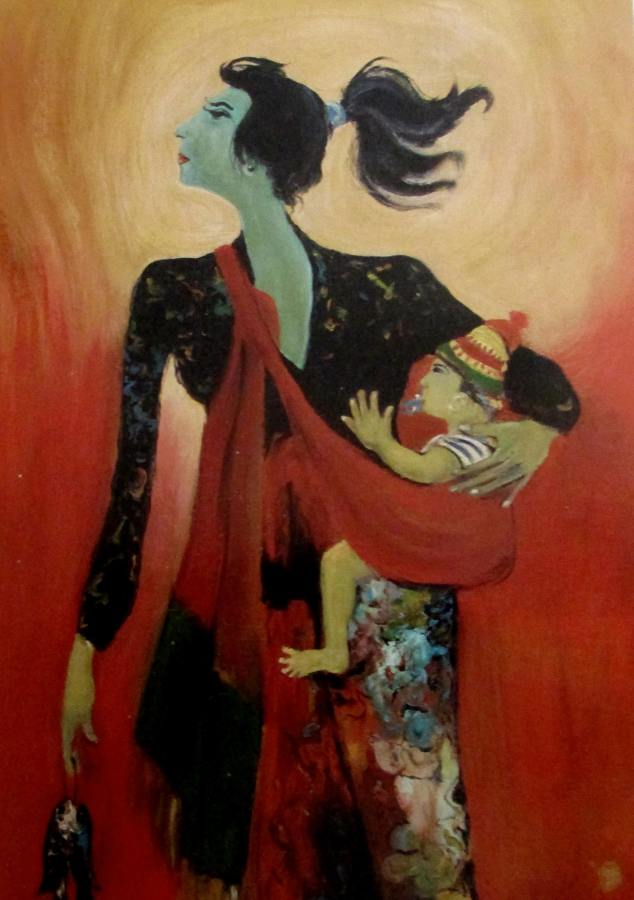 Hendra Gunawan - Mother and Child (1982)