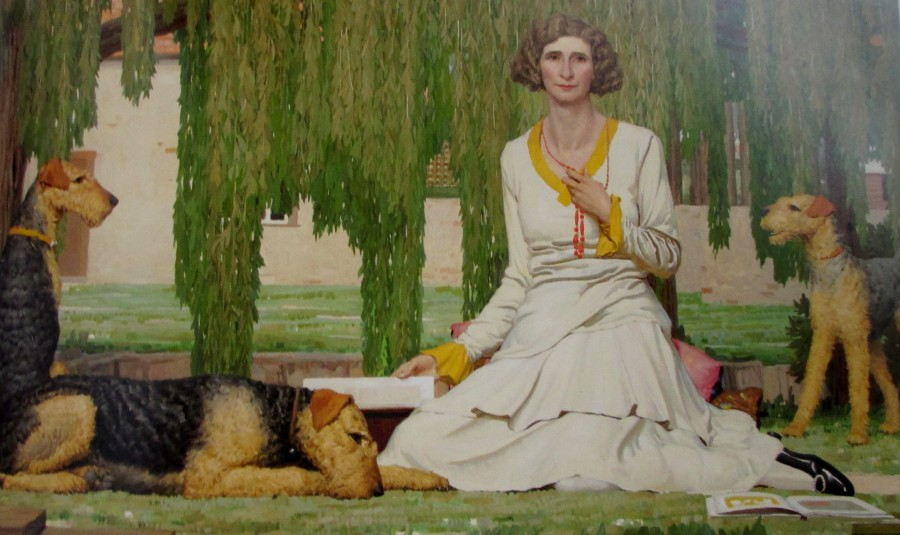 Mervyn Napier Waller | Christian Waller with Baldur, Undine and Siren at Fairy Hills (1932)
