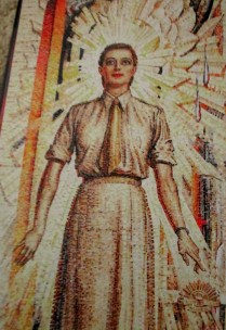 Napier Waller mural - Hall of Memory, Australian War Memorial (Women's Services)