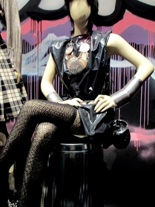 Jean-Paul Gaultier couture design using garbage bags