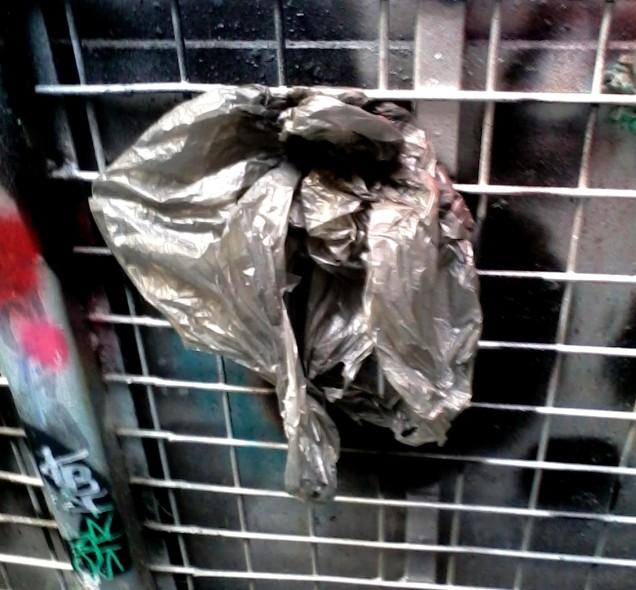 plastic rubbish bag