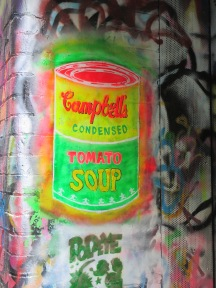 Street Artistic impression of Campbell's soup can - Tomato Soup