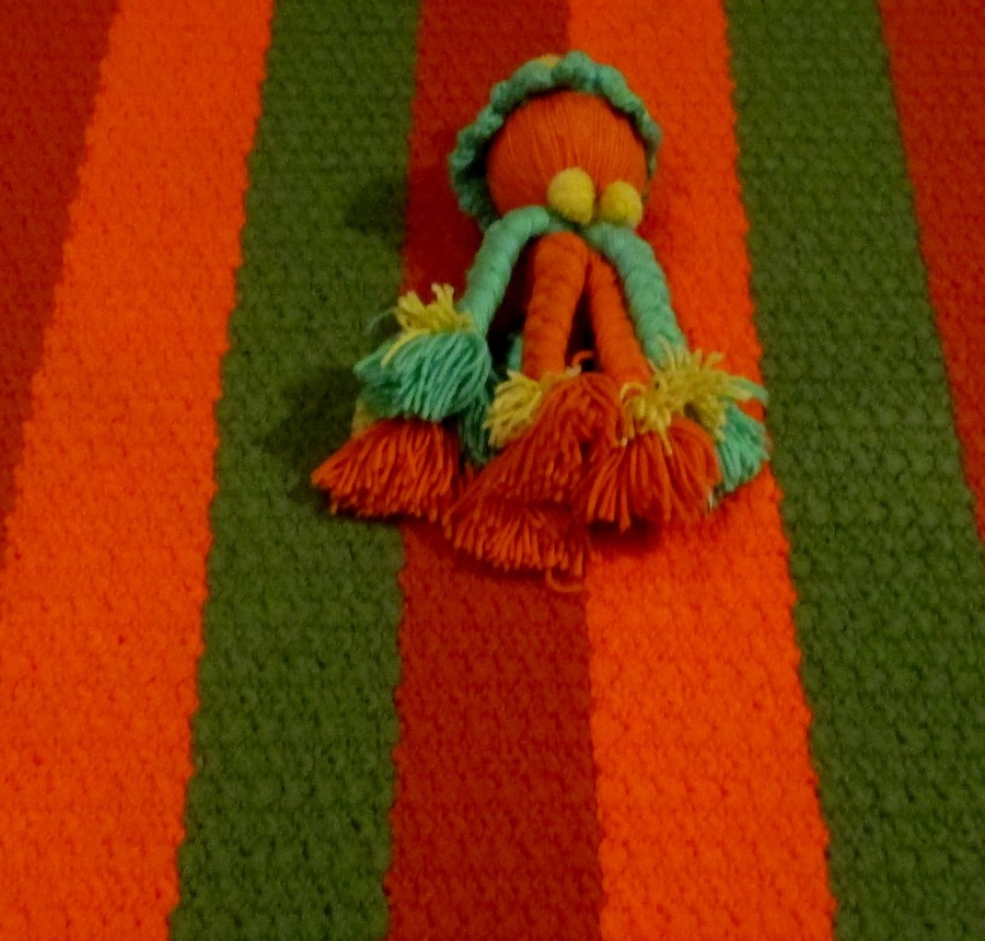 Mike Kelley | Untitled (Crocheted Rugs and Dolls)