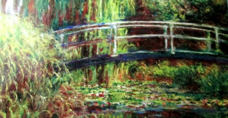 65claude monet - waterlily pond pink harmony
