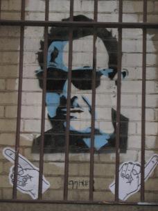 Mario Condello behind bars by Ha-Ha