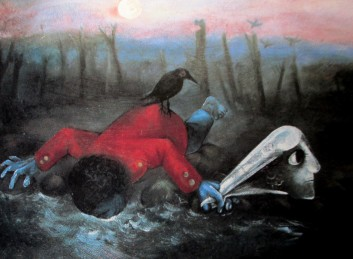 arthur boyd - bridegroom drinking from creek