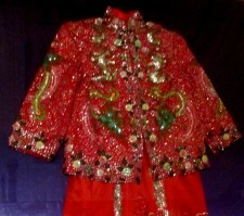 chinese wedding jacket&skirt1