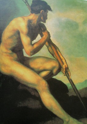 Gericault | Nude Warrior With a Spear