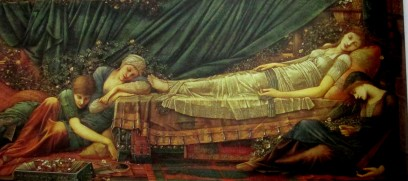 Edward Burne-Jones | The Sleeping Princess | Briar Rose series | (1873-1890)