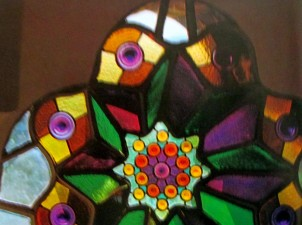 Gaudi | Bellesguard stained glass window (detail)