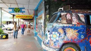 Combi bus at Nimbin, New South Wales
